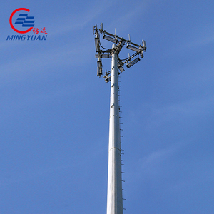 Painting GSM tubular radio mast tower