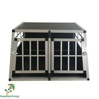Double Car Dog Aluminium Transport Crate with separating wall