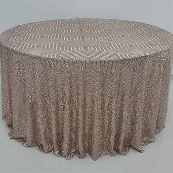 SQN88 Newest Stripped Wedding Sequin Table Linens Rose Gold Sequin Fabric