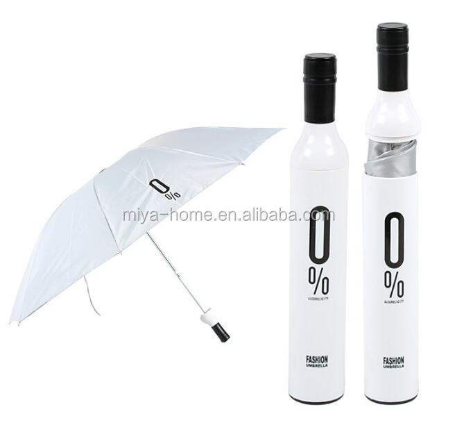 2016 Hot Sell 0% Wine Bottle Umbrella / Promotion cheap wine bottle folding umbrella