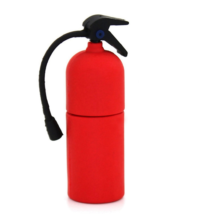 Custom Business Gift Fire Extinguisher Fire Equipment Pvc Usb Flash Drives For Laptop