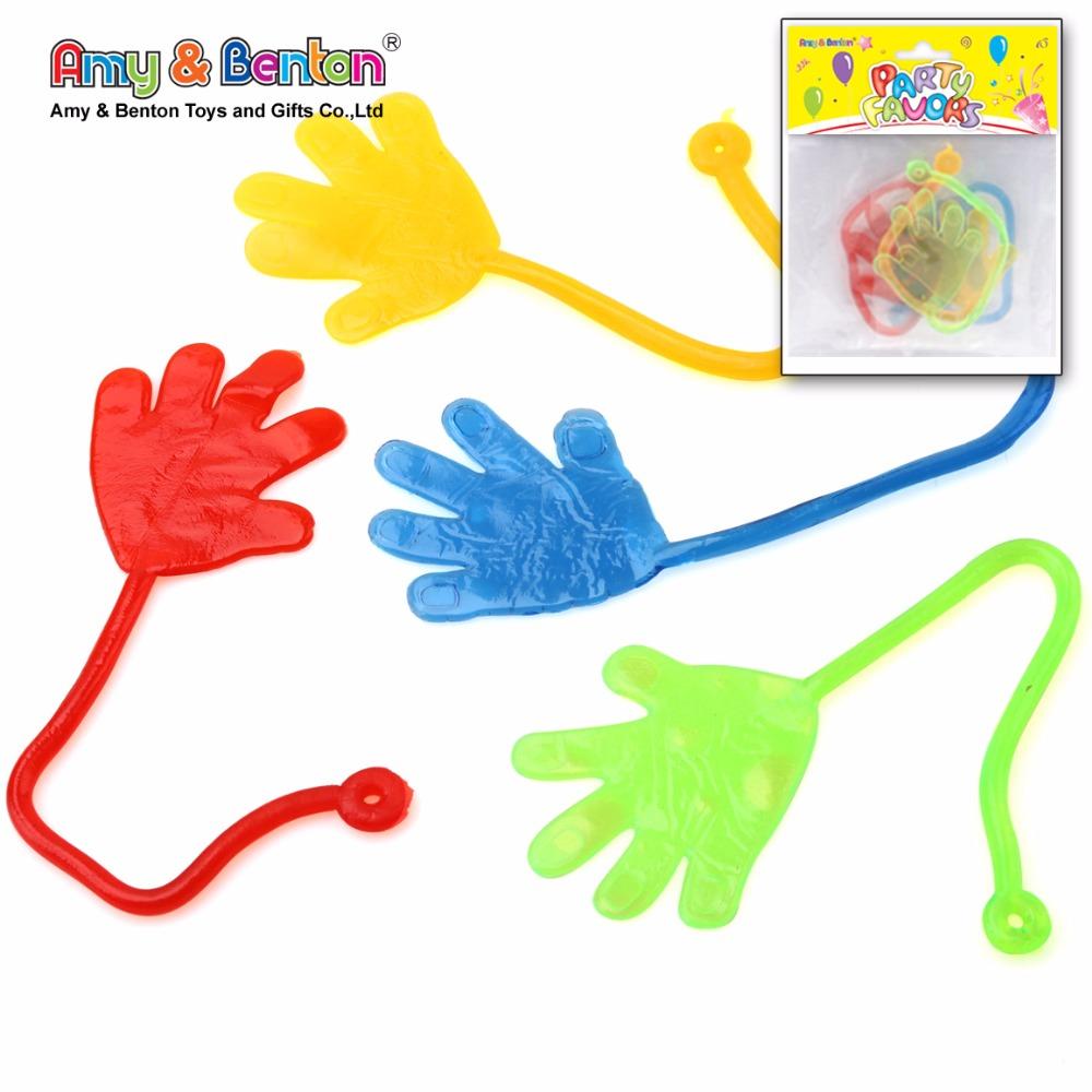 Heißer Verkauf Neuheit Kleine Kunststoff Klebrige Hand TPR China Fabrik Spielzeug Für Kinder