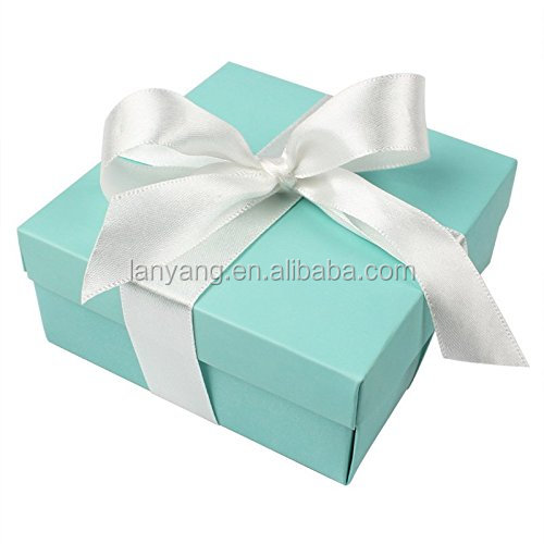 Party Wedding Favors Bag,Mini Large Square Turquoise Candy Box with Lids for Wedding Supply, Birthdays, Bridal and Baby Showers