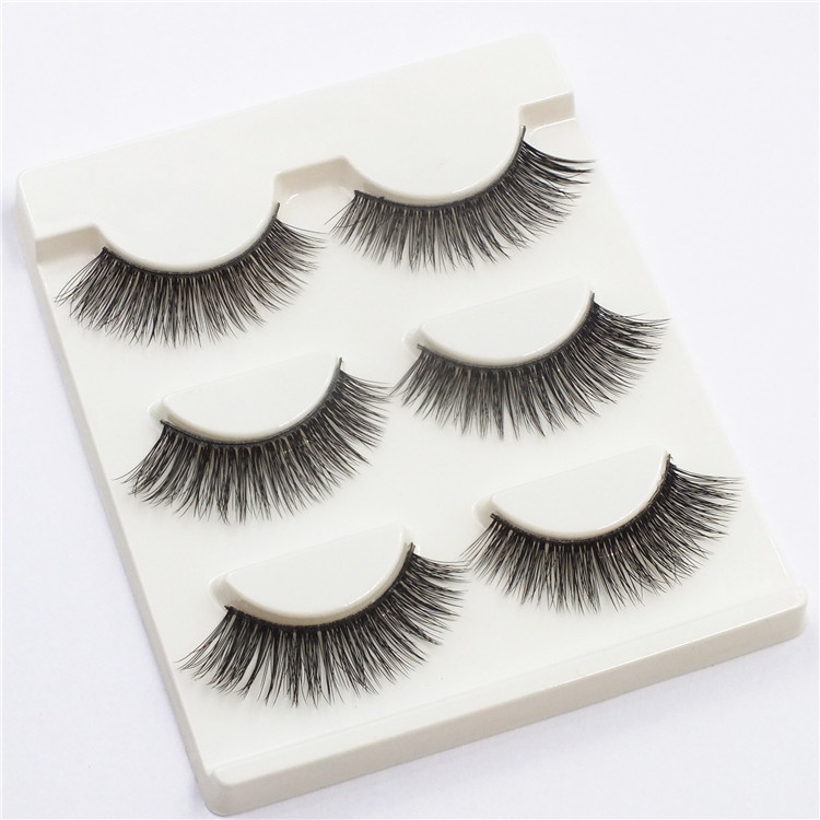 3D Cross Black Thick False Eyelashes Eye Lashes Extension Makeup Super Natural Long Fake Eyelashes SD-03