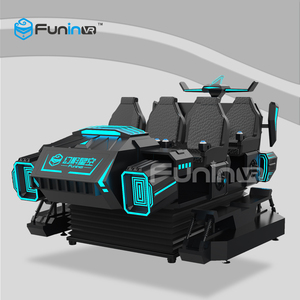Amusement park 9d vr cinema 6 seats roller coaster virtual reality 9d vr chair motion ride