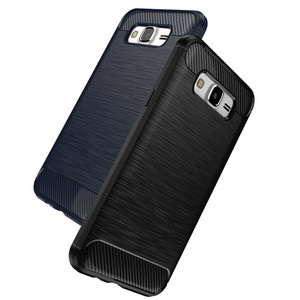 2017 Wholesale Carbon Fiber Pattern Brush TPU Phone Back Case Cover For Samsung Galaxy J7 2016