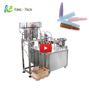 Pharmaceutical plastic ampoule filling and sealing machine