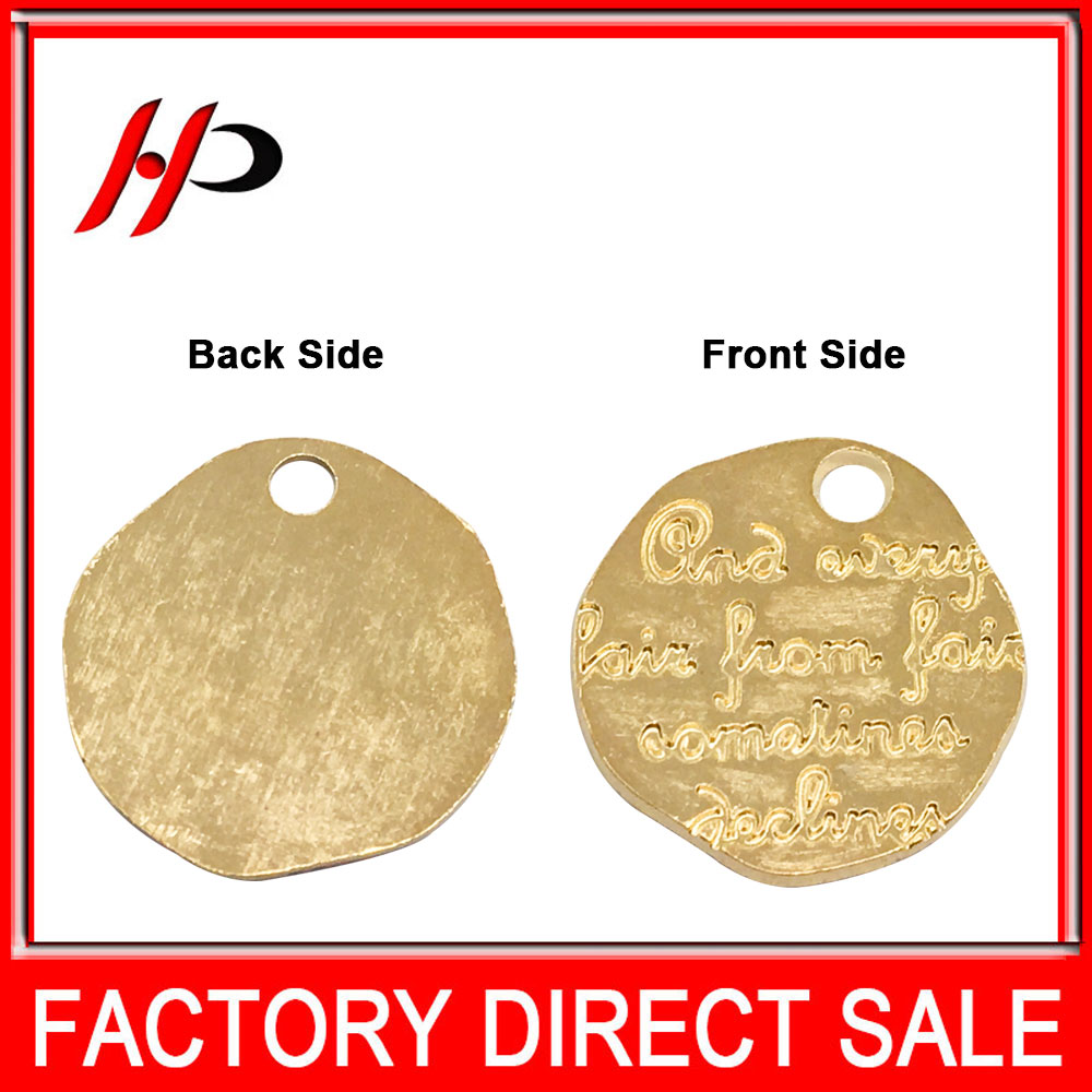 Factory made gold makers personalized name metal custom logo pendant
