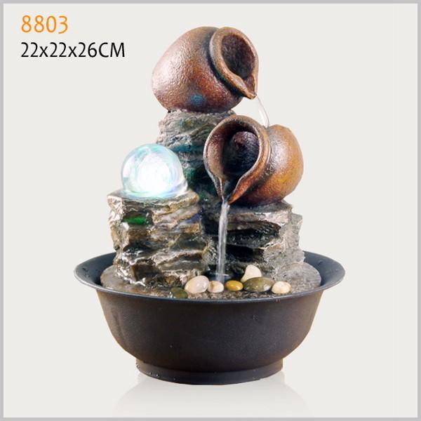 Polyresin fontana da tavolo dell 39 interno articolo feng for Water feature feng shui