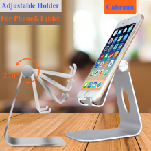 Cabraun JK06 Universal Desktop Mobile Phone Holder Lazy Aluminum Cell Phone Stand Adjustable Flexible Phone Mount