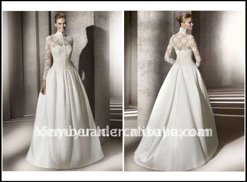 Hot-2012-Romantic-Ball-Simple-Long-Lace-Sleeve-Jacket