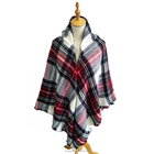 2017 New Design Plaid Blanket Scarf Oversized Tartan Acrylic Scarf