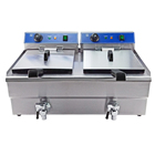 Hot new products two tank electric deep fat justa deep fryer nice price high quality