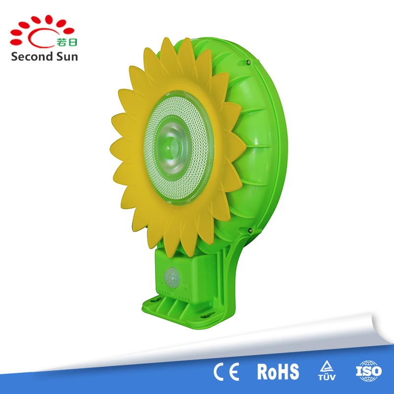 Portable Sunflower Outdoor Solar Garden Lights 9V integrated Infrared Solar led Lamp