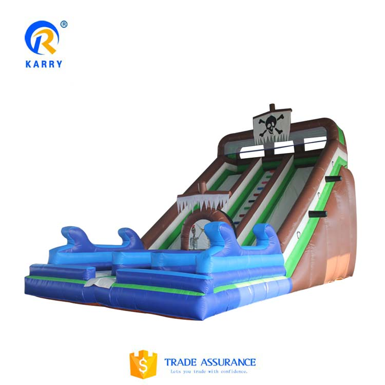 2019 hot selling double line slide ,suitable for outdoor inflatable double waterfall slide