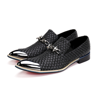 NA031 Black Men Fashion Sneakers Men Smoking Slippers Bling Crystal Loafers Men Wedding Nightclub Fashion Shoes