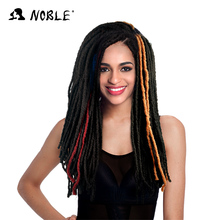 Best selling products noble gold synthetic hair products Afro twist braid 3 bundle one bag fashion crochet synthetic hair bundle