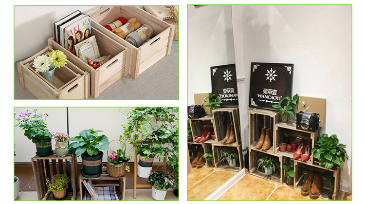 Factory price classic style wooden crate for vegetables