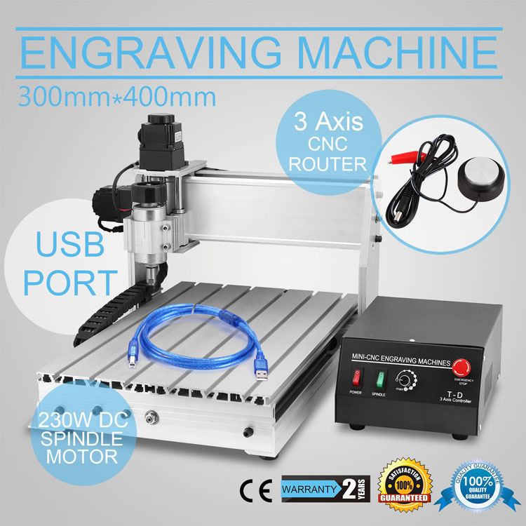 VEVOR Updated New <strong>CNC</strong> 3040-DQ Router Engraver/Engraving Drilling and Milling Machine