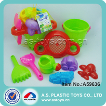 8 pieces summer kids filter bucket sand rake set toy with watering can