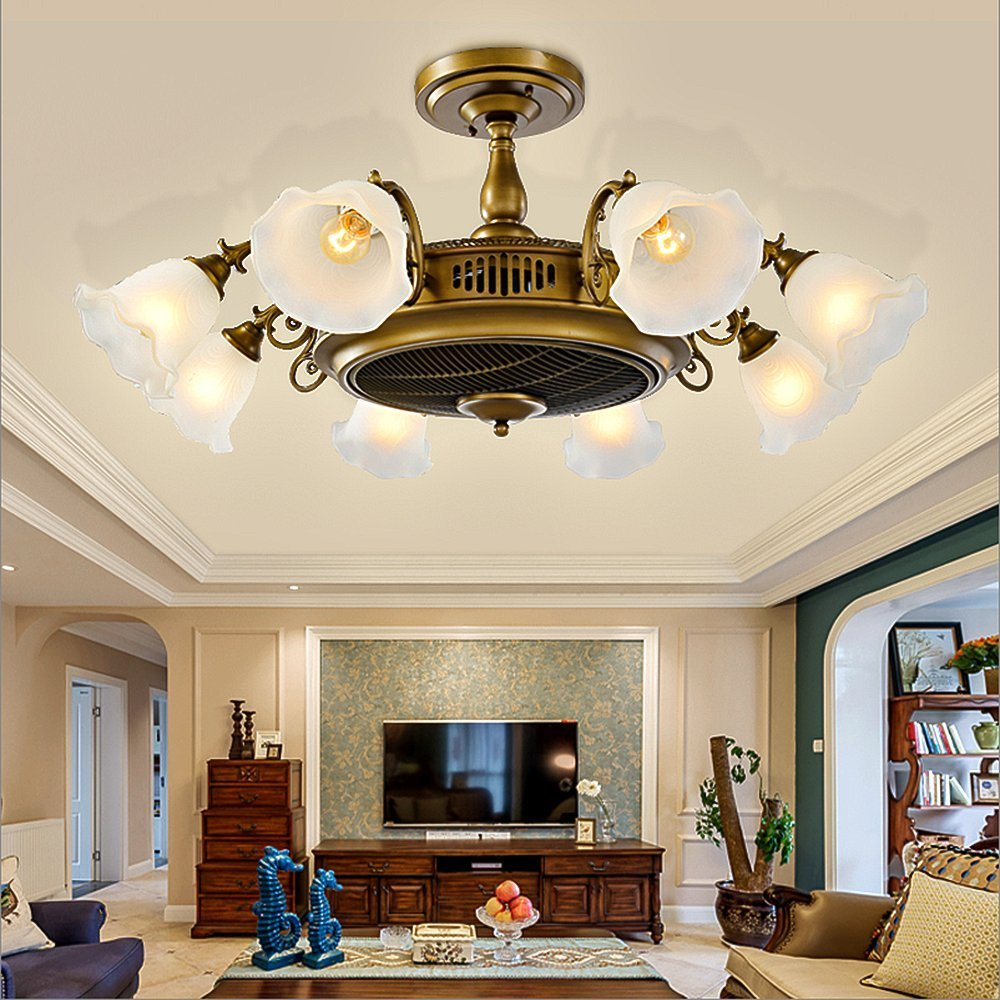 Buy COLORLED Golden Negative Ion Ceiling Fan Lights-Big ...