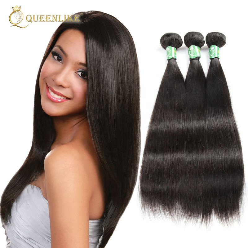 100 human cuticle aligned virgin remy 12a grade indian hair weave, Natural color or as your request