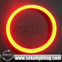 Best quality SEKO manufacture cob rgb halo rings,remote wireless multicolor cob angel eyes