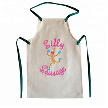 White customized printing PVC children apron kids apron