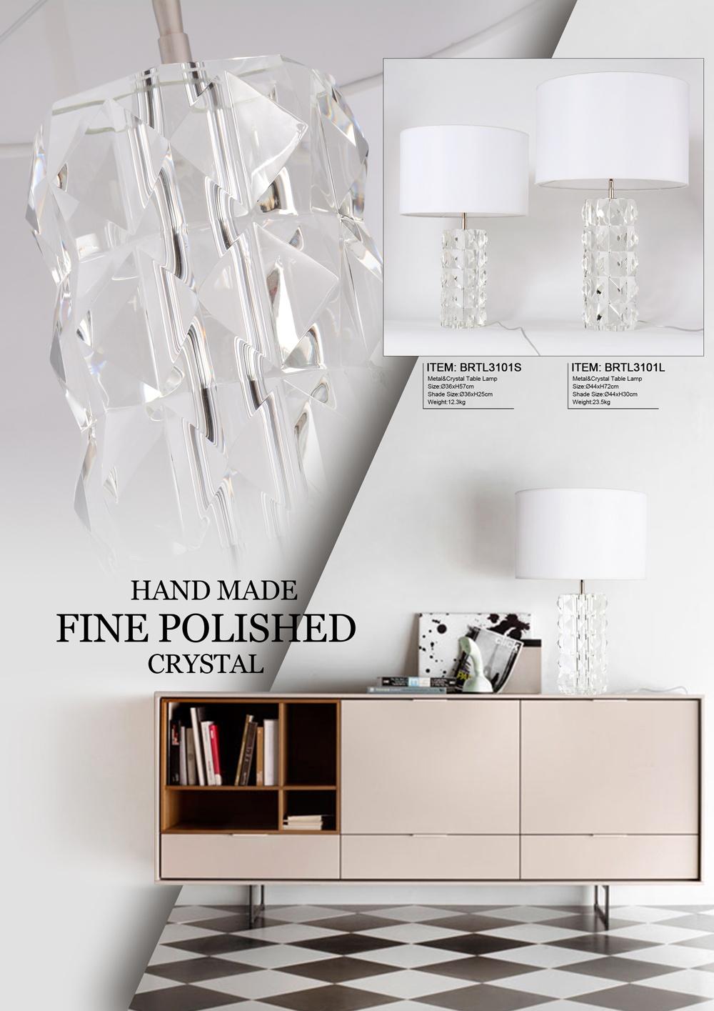Clear Prism Table Lights Corner Column Crystal Table Lamp for Hotel Living Room Bedside High End Lamps