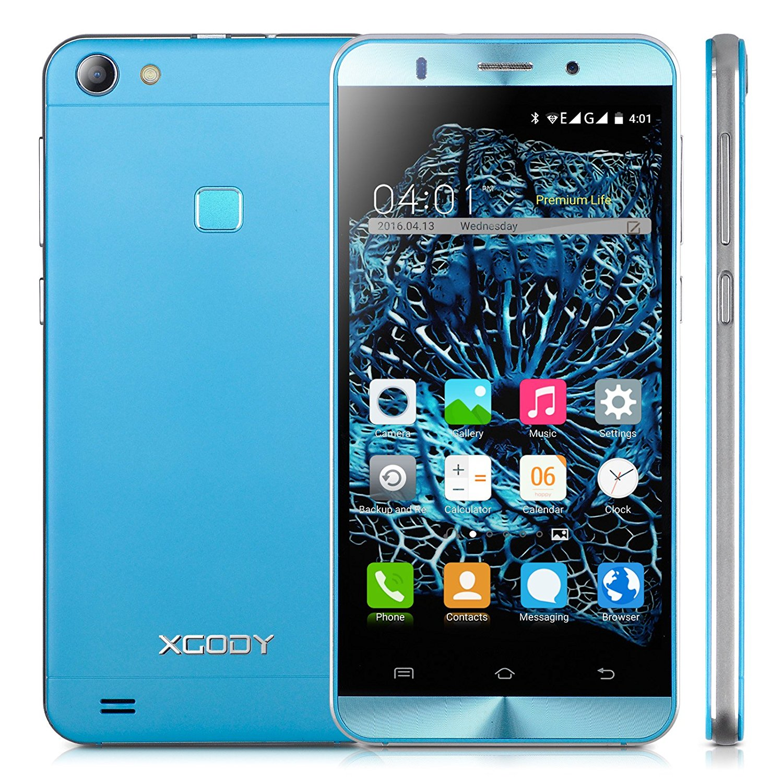 Xgody X15 5 Inch Android 5.1 Lollipop Cell Phones Unlocked ROM 8GB+ RAM 1GB MTK6580 Telefonos Desbloqueados Dual Camera Support 2G/3G Network (Blue)