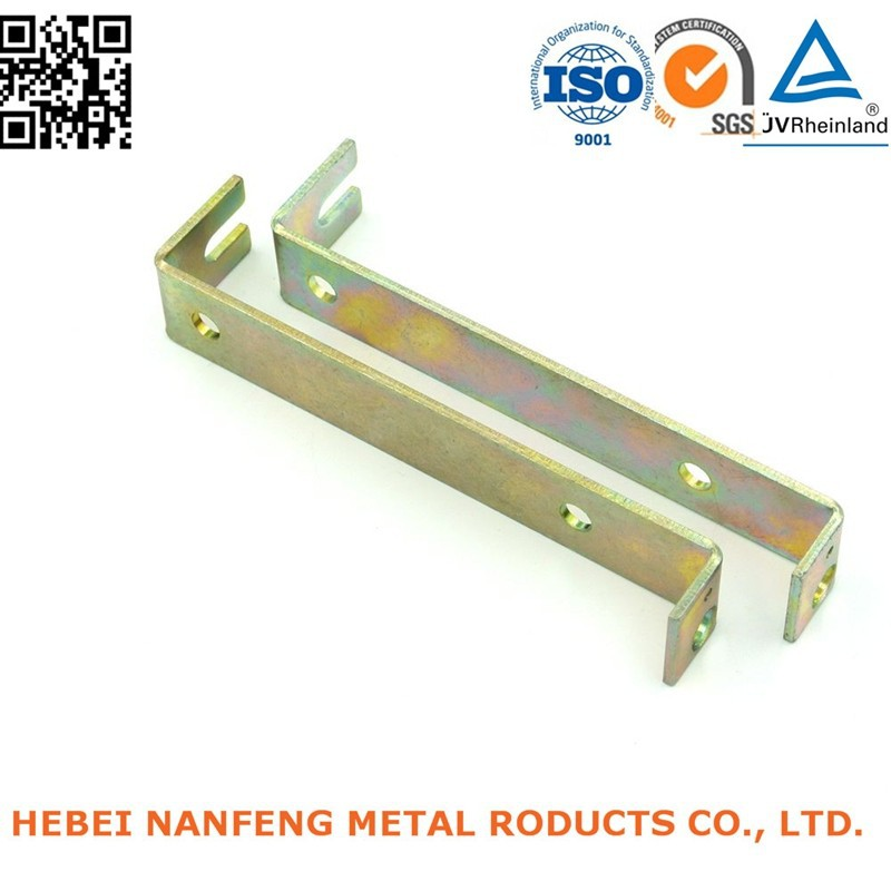 High quality yellow galvanized steel pressing fixing mounted part