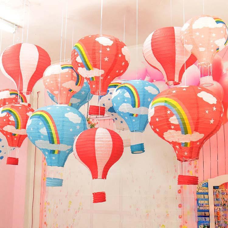 Фото на бумаге в виде воздушных шариков