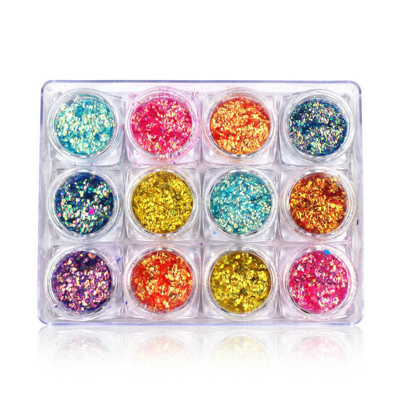 Top grade promotional nail art Accessories bling Glitter Shining Sequins for salon