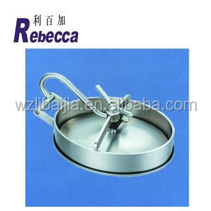 Stainless Steel SS316 Hatches, Sanitary Oval Manhole Covers, 430MM*330MM Manway, 3.0Bar