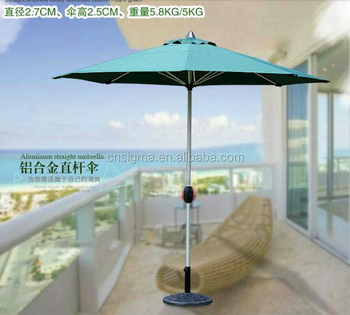 2018 Trade Assurance Hot Sale Aluminium Square Folding Luxury Roma Waterproof  Patio Umbrellas