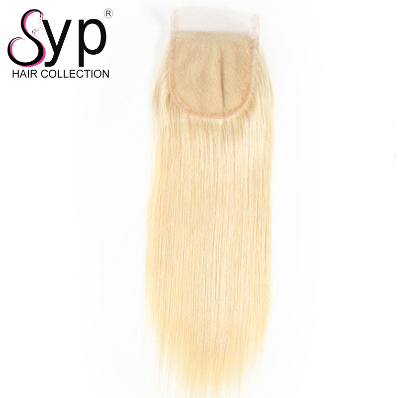 613 Blonde Human Virgin Hair Weave Bundles With 4 4 Lace Closure Body Wave High Quality
