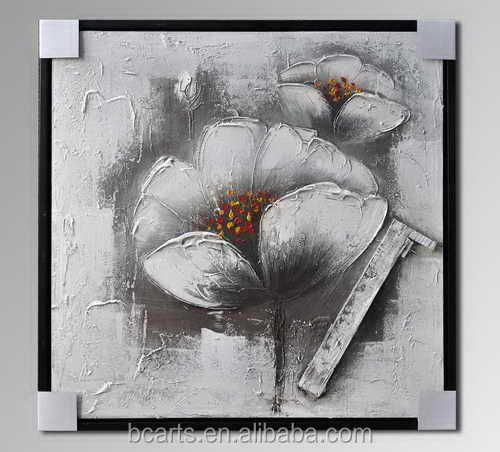 AM13006 Nice botanical flower abstract art ,handmade oil painting for living room decoration