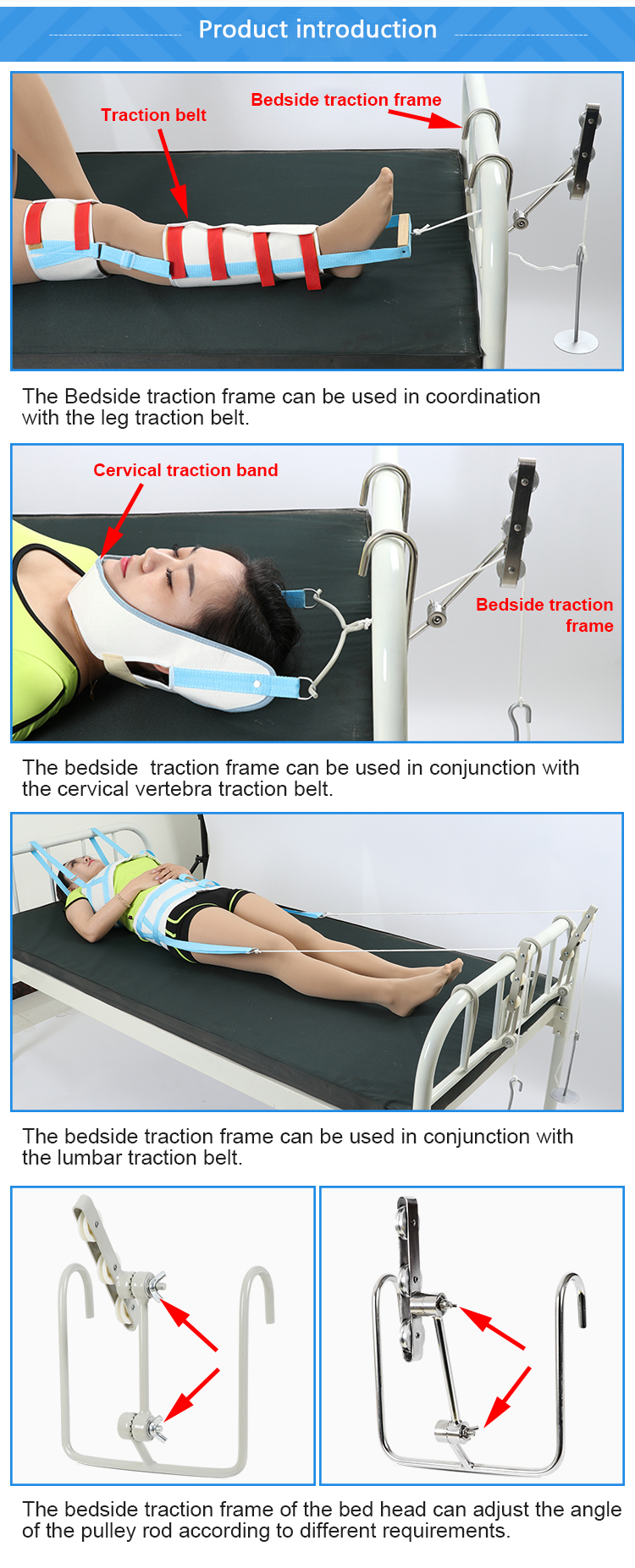 Pulley bedside traction frame leg lower limb stretcher suspension brick skin tractor