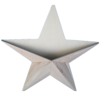 Nice Christmas String Wooden Star Or Other Decoration Wall Decor Hanging Wood Yard