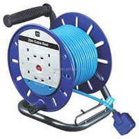 Retractable electrical extension cord cable reel