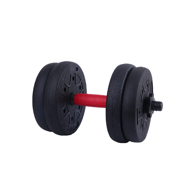 Grosir Kustom Komersial Gym PVC Dilapisi 30Kg Dumbbell Set Kebugaran Peralatan Adjustable Dumbbell
