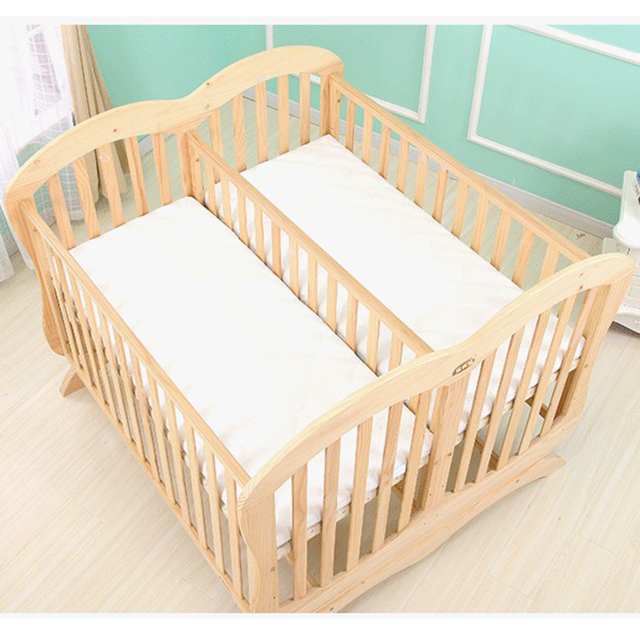 Sgs Certificatedouble Twin Baby Bed And Quick Easy Embling Feature Crib Modern Double Cot Wooden