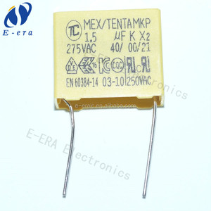 mkp x2 capacitor 275vac 1.5uf 26*20*11mm