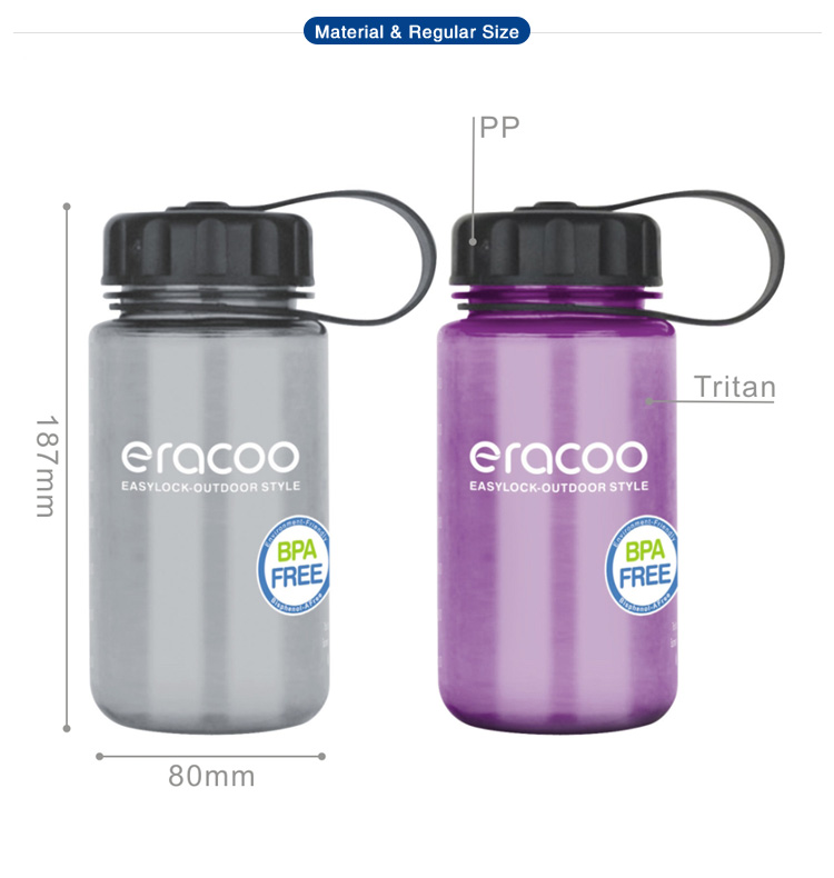 [720ml 24.3oz 2.88cup] Wide Mouth Transparent Drinking Water Bottle with Logo