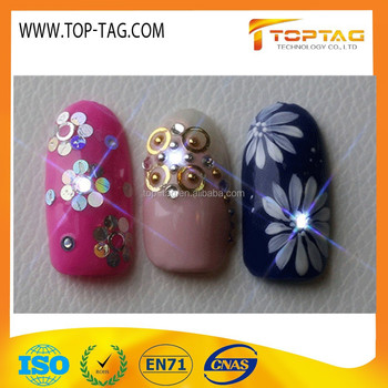 NFC Finger Led Rfid Nail Tag / Art Chip for Mobile Phone