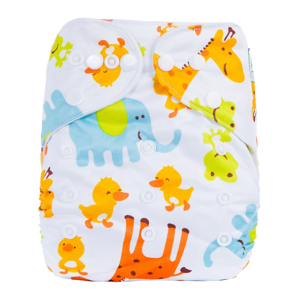 Wholesale Reusable Washable Baby Cloth Diaper  Prints Pocket Diaper Nappy, Colorful