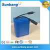 high quality 6000mah 12v battery pack rechargeable for strip light