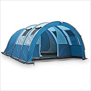 Get Quotations 4 Person Tent Blue Camping Tunnel With Awning Size 480 X 340 200