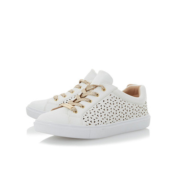 Comfortable And Casual Style Hollow Out Leather White Colour Girls