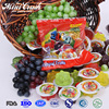 Chinese candy names yogurt fruits sweets jelly candy in plastic bag